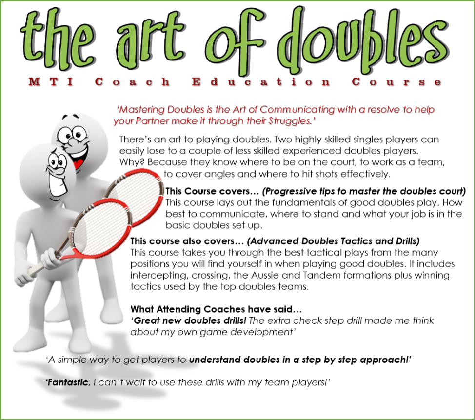 The art of doubles coach education course