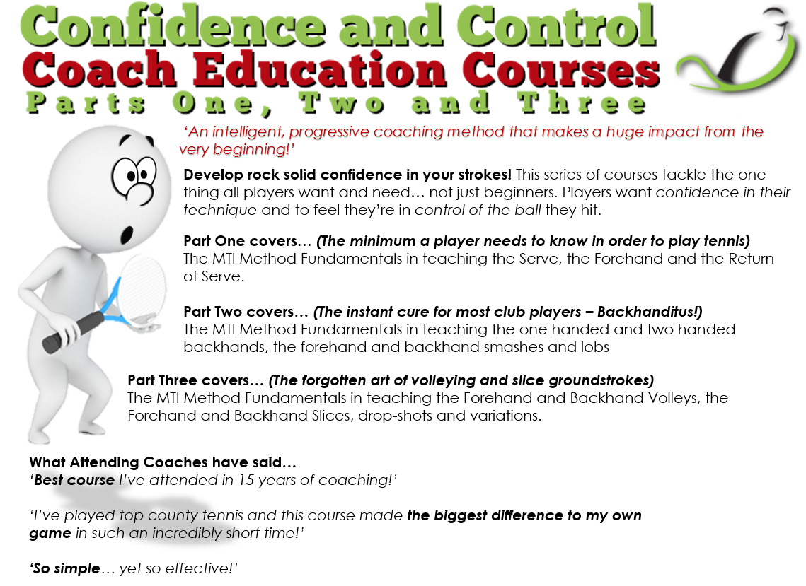 Confidence and Control Coach Education Courses